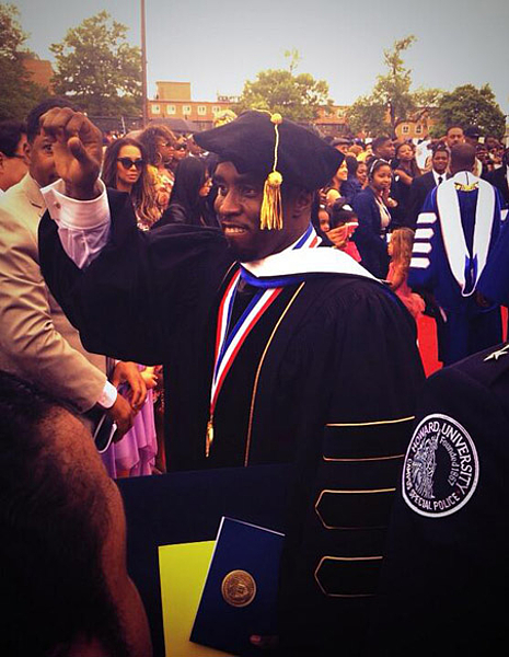 P diddy obtient son doctorat black for P diddy maison